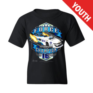 2020 JOHN FORCE BLACK 16X CHAMP YOUTH SHIRT